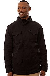 The Dubliner Waxed M-65 Jacket in Black