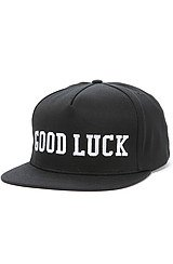 The Good Luck Snapback in Black