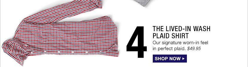 4 | THE LIVED-IN WASH PLAID | SHOP NOW