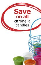 Save on all citronella candles
