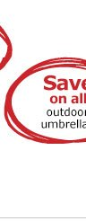 Save on all outdoor umbrellas