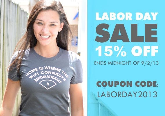 15% Off Labor Day coupon