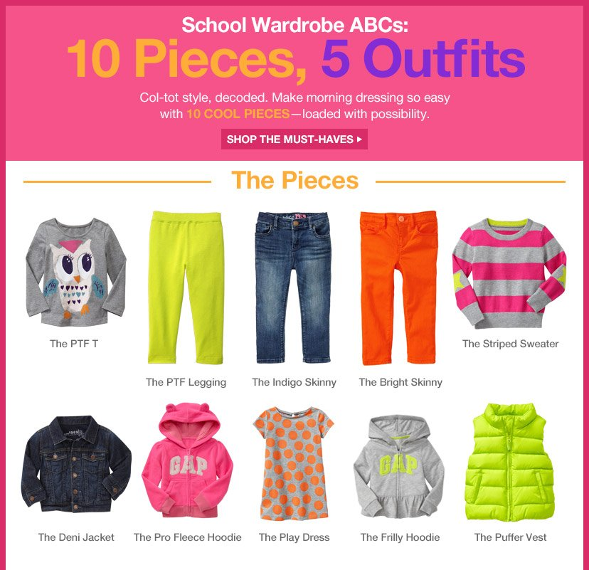 School Wardrobe ABCs: 10 Pieces, 5 Outfits | SHOP THE MUST-HAVES