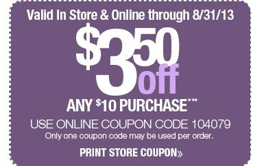 $3.50 off off Coupon