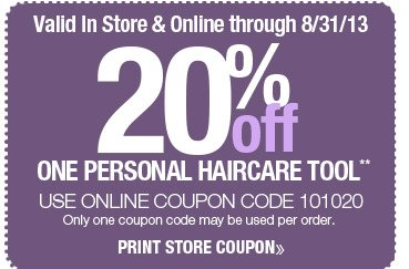 20% off All Personal Hair Tools Coupon