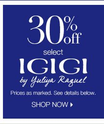 30% off select Igigi