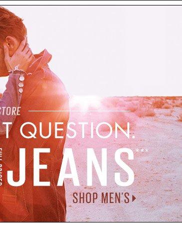 25% OFF Men's Jeans