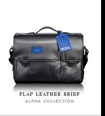 Flap Leather Brief - Shop Now