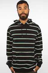 Diamond Supply Co Stripes Hoody in Black, Diamond Blue, & White