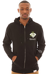 Diamond Supply Co Home Grown Zip Up Hoody in Black