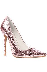 Jeffrey Campbell Darling Shoe in Pink Glitter