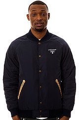 Crooks and Castles Praadigy Stadium Jacket in Dark Navy