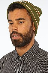 Diamond Supply Co Striped Beanie in Green, Orange, White
