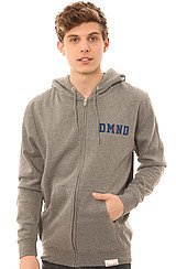 Diamond Supply Co DMND Zip Up Hoody in Heather Grey