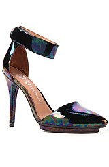 Jeffrey Campbell Solitaire Shoe in Black Irridescent