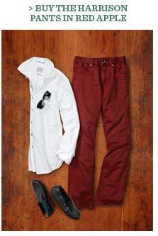Buy The Harrison Pants In Red Apple
