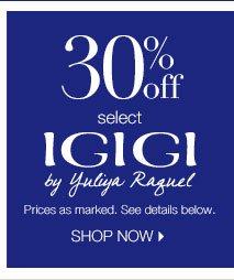 30% off select Igigi