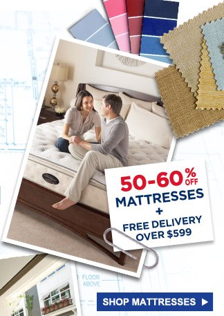 50-60% Off mattresses + FREE Delivery over $599 | Shop Mattresses