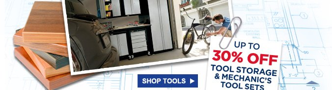 Up to 30% OFF tool storage & mechanic's tool sets + members get 25% back in points | Shop Tools