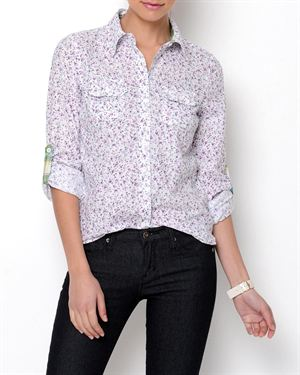 Stylebook Floral Printed Button-Up