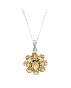 Ladies Citrine Necklace Made Of 925 Sterling Silver