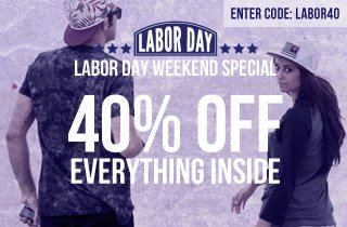 Labor Day Weekend Special