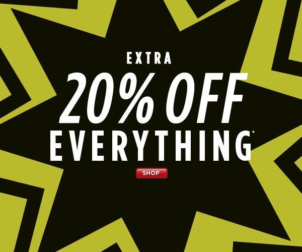 Extra 20% Off Everything!