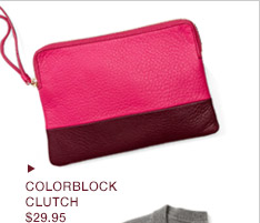 COLORBLOCK CLUTCH $29.95