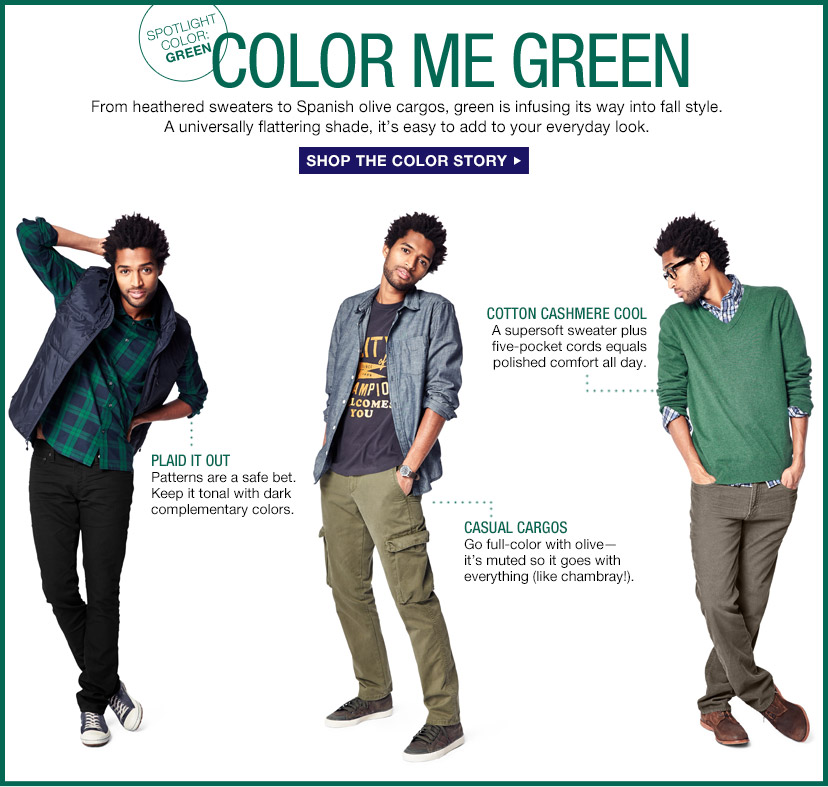 COLOR ME GREEN | SHOP THE COLOR STORY