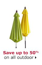 Save up to 50% on all outdoor