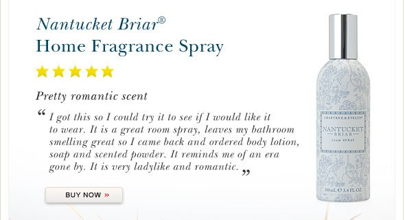 Nantucket Briar Home Fragrance Spray.