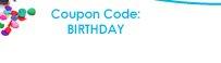 Coupon Code: BIRTHDAY