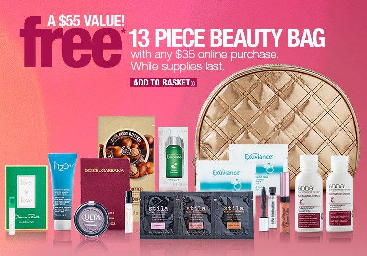 FREE 13 Piece Beauty Bag