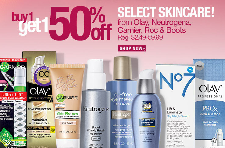 Buy Get 1 50% Off Select Skincare