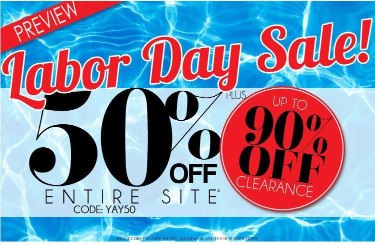 50% Off ~Extended~Labor Day Sale!
