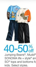 40-50% off Jumping Beans, Mudd, SONOMA life + style and SO tops and bottoms for kids. Select styles. SHOP NOW