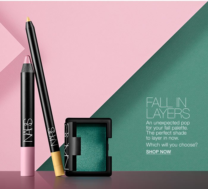 Fall in layers. An unexpected pop for your fall palette.