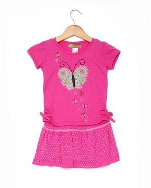 Baby Ziggles Girl's Butterfly T-Shirt & Skort Set