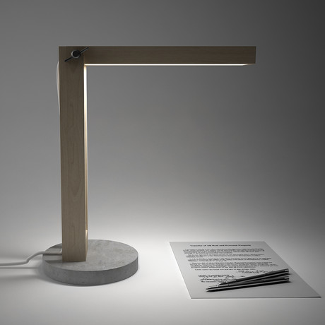 Wood and Concrete Lamp
