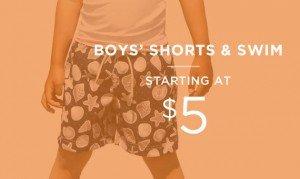 Boys' Shorts & Swim Starting At $5 | Shop Now