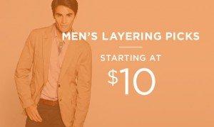 Men's Layering Picks Starting At $10 | Shop Now