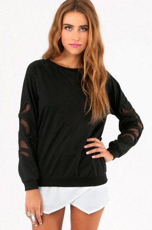 CRYSTAL CUTOUT SWEATER 46