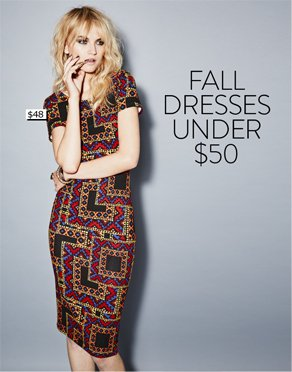 FALL DRESSES UNDER $50