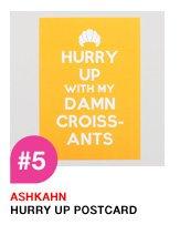 Ashkahn Hurry Up Postcard