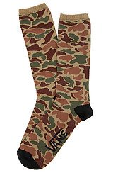 The Willits Crew Socks in Green Camo