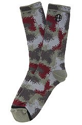 The Spray Camo Crew Socks in Black