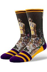 The NBA Legends James Worthy Socks in Purple & Yellow