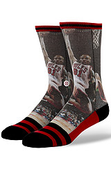 The NBA Legends Dennis Rodman Socks in Black & Red