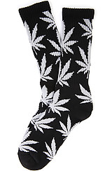 The Plantlife Socks in Black and Grey