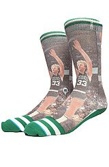 The NBA Legends Larry Bird Socks in Green & White